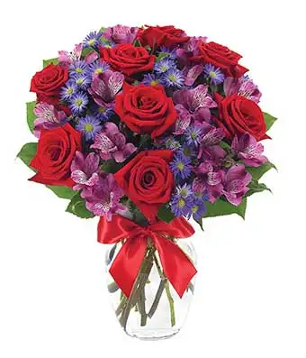 Red and Purple - SendFlowers.pk