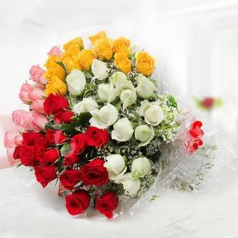 RainBow Roses - SendFlowers.pk