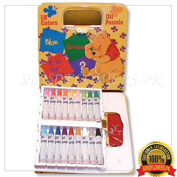18 colour Special pencil box - SendFlowers.pk