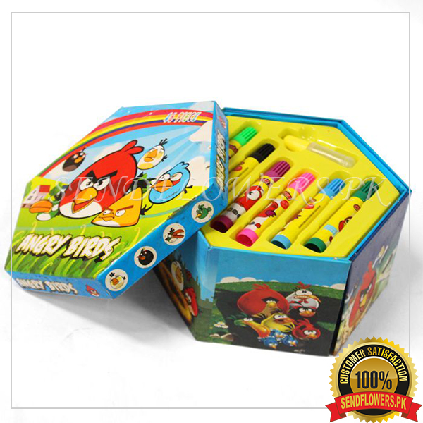 Angry Bird Art Set (46 pieces) - SendFlowers.pk