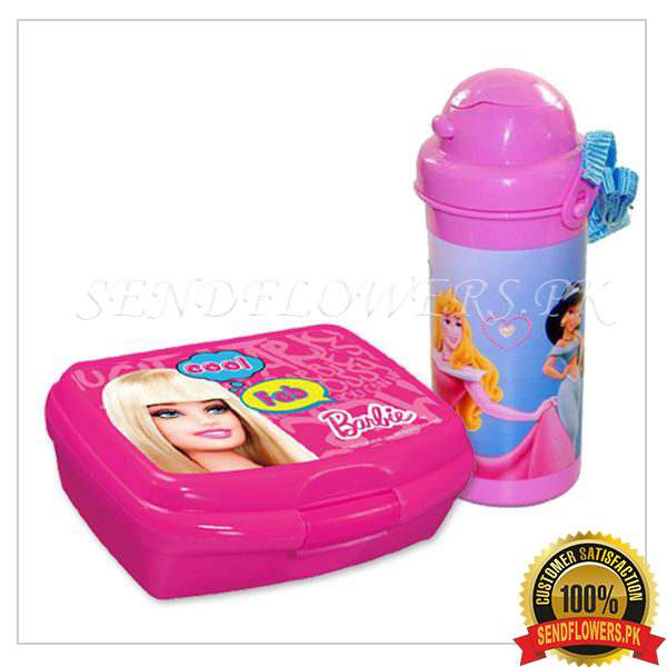 Barbie Water Bottle with Lunch Box - SendFlowers.pk