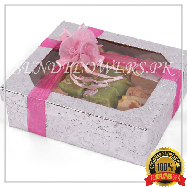 Barfi Special Silver Box - SendFlowers.pk