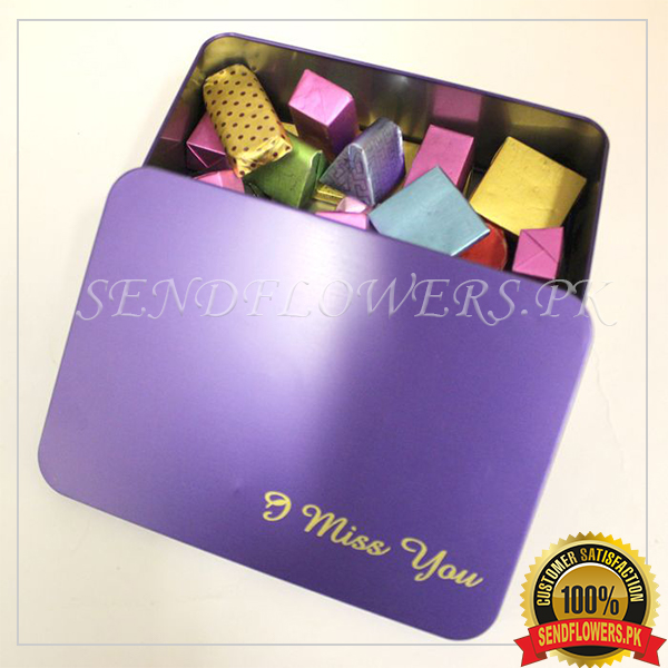 Belgian Message Chocolate Box - SendFlowers.pk