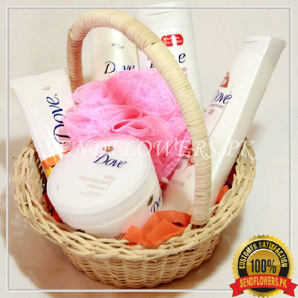 Dove Body and Bath Basket - Sendflowers.pk
