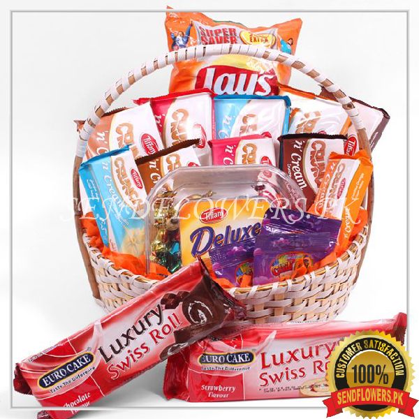 Edible Gourmet Products Basket - SendFlowers.pk