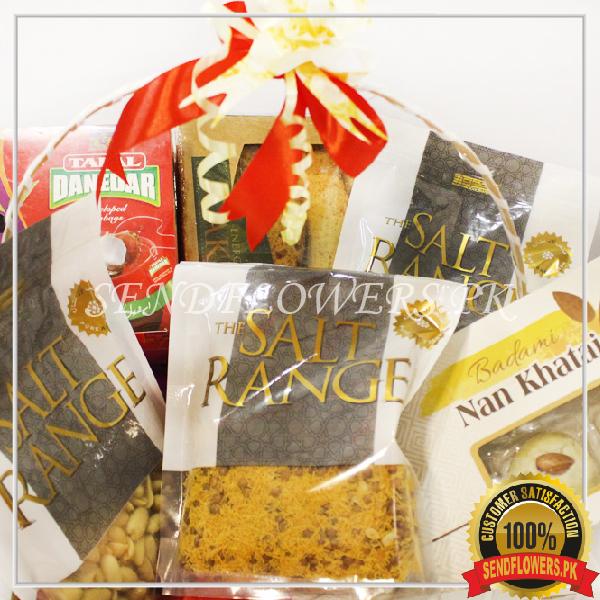 Healthy Salty Treat & Tea Essentials - SendFlowers.pk