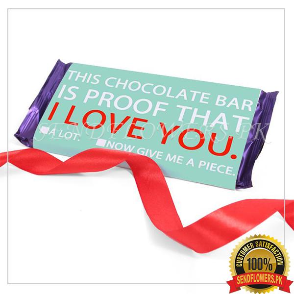 I Love U Choco Bar - SendFlowers.pk