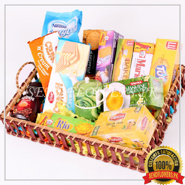 Luxury Tea Basket - SendFlowers.pk