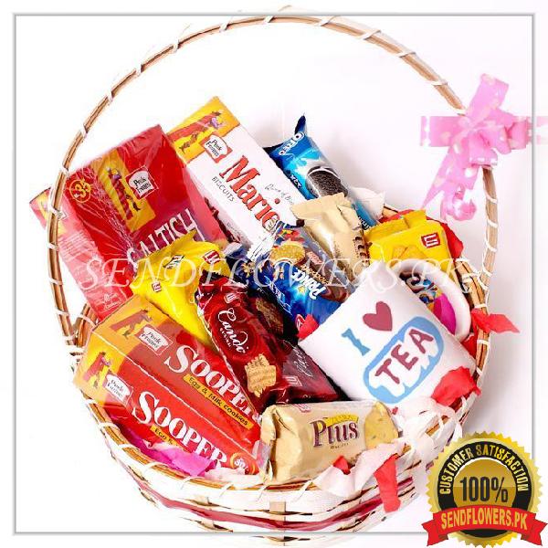 Premium Snack Fun Gift Basket - SendFlowers.pk