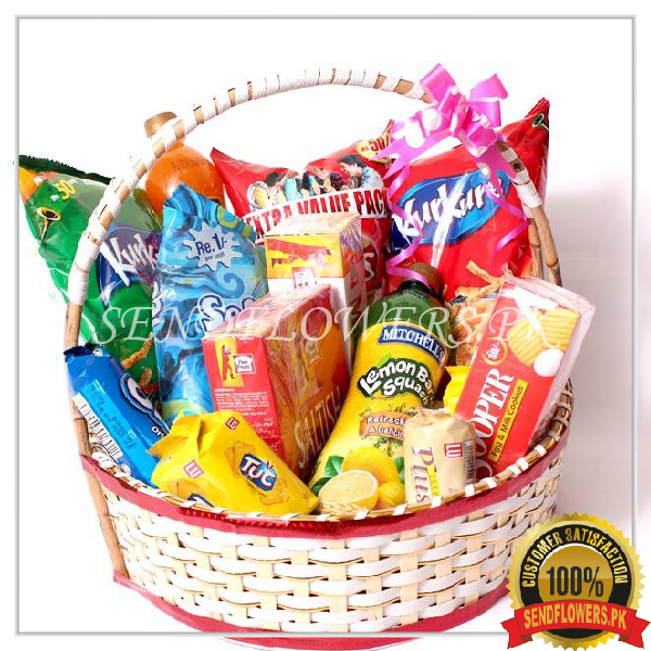 Sweet & Salty Treat Pemium Basket - SendFlowers.pk