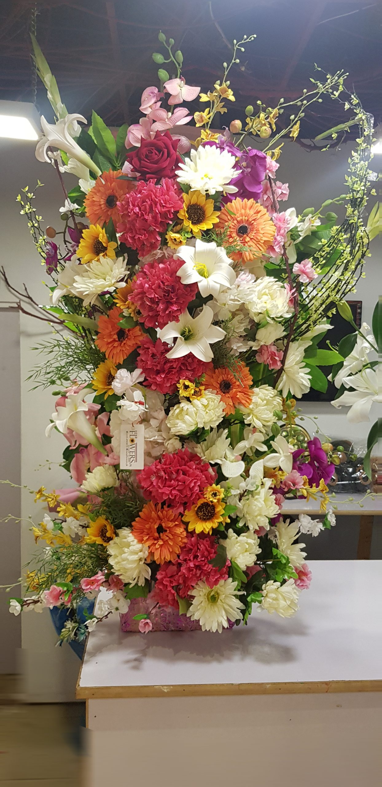Big Artificial Flowers Arrangements Artificial Flower Delivery Pakistan
