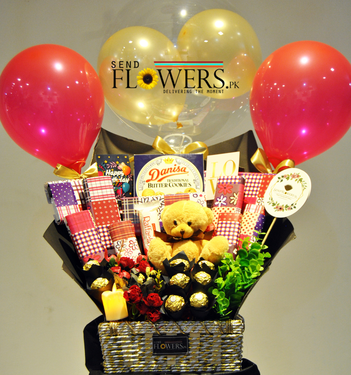 Delivery of Congratulations Love Basket in Pakistan
