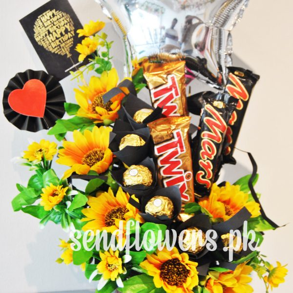 Delivery of SunFlowers Choco Box in Pakistan