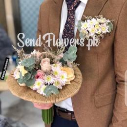 Groom Bouquet Online Delivery - Wedding Groom Flowers